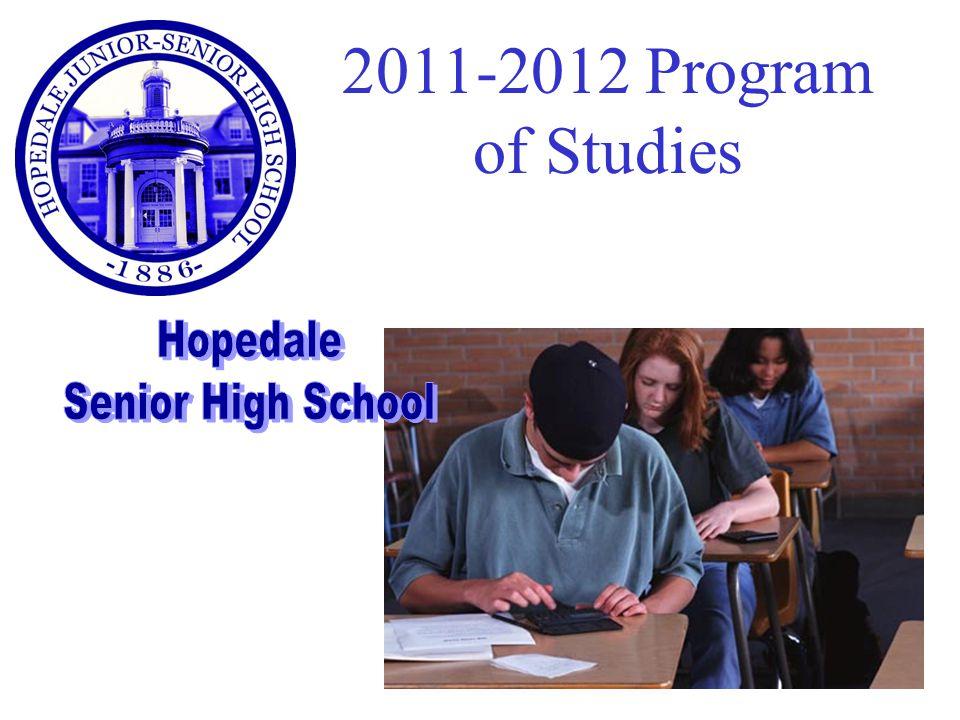 2011-2012 Program of Studies