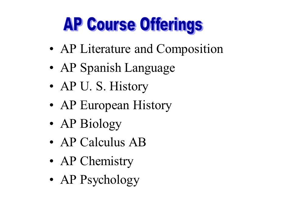 AP Literature and Composition AP Spanish Language AP U.