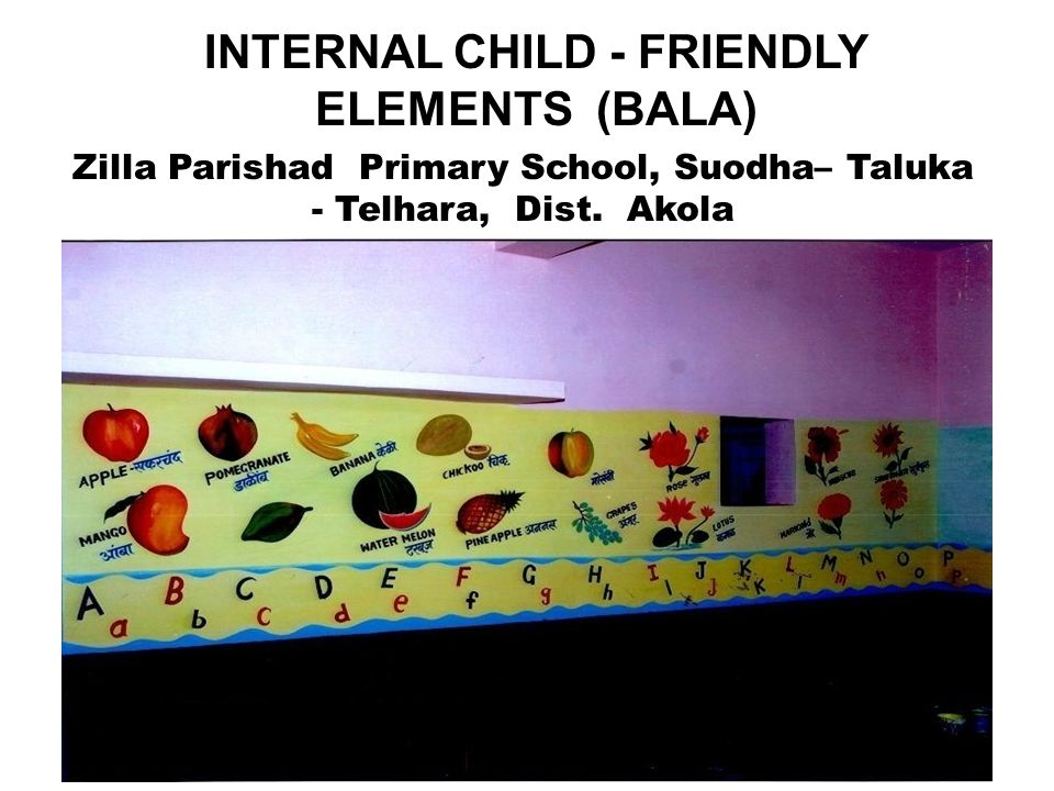 INTERNAL CHILD - FRIENDLY ELEMENTS (BALA) 21 Zilla Parishad Primary School, Suodha– Taluka - Telhara, Dist.