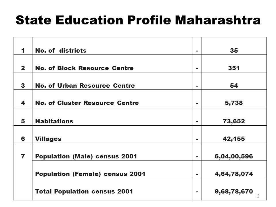 State Education Profile Maharashtra 1No. of districts-35 2No.