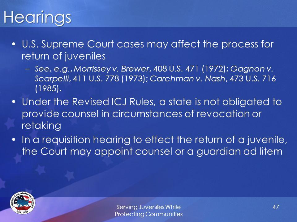 Hearings U.S.