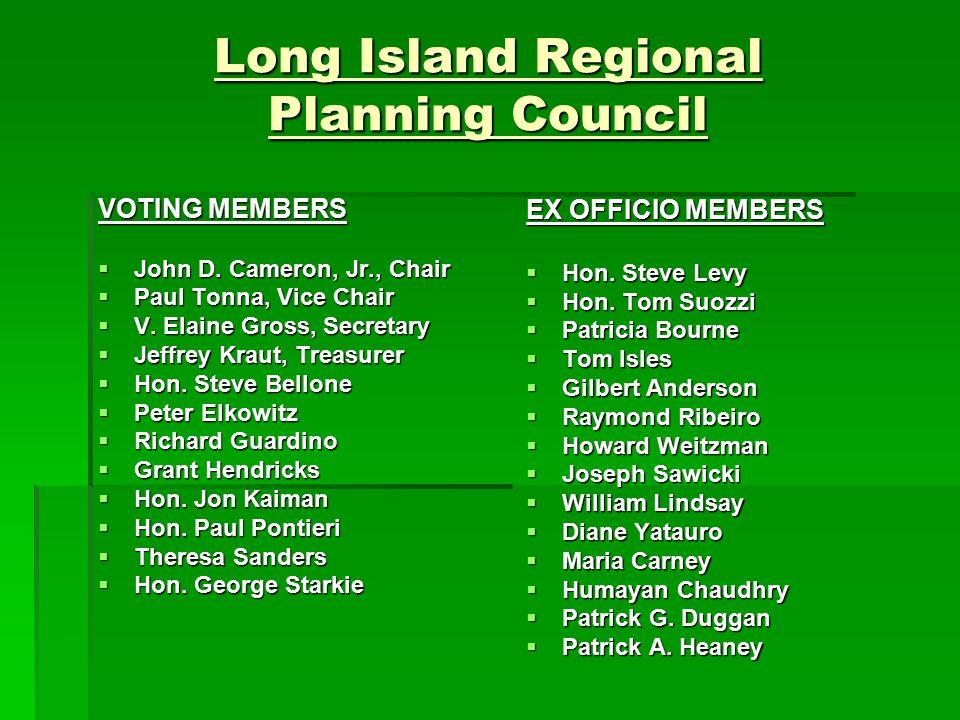 Long Island Regional Planning Council VOTING MEMBERS  John D.