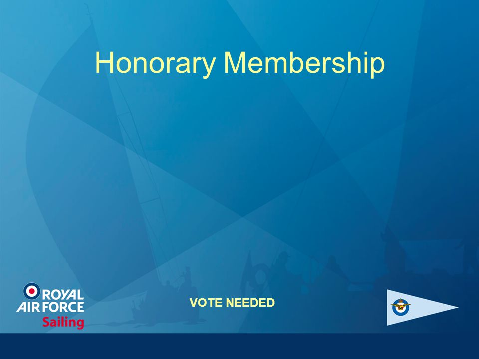 Honorary Membership VOTE NEEDED