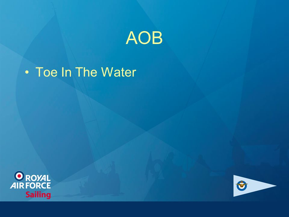 AOB Toe In The Water