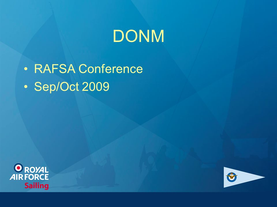DONM RAFSA Conference Sep/Oct 2009