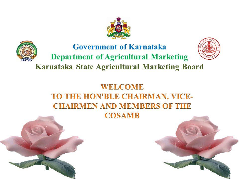 Organisational Set-up of the Department of Agricultural Marketing, Karnataka Minister for Agrl Mktg Principal Secretary Co-op DIRECTOR ADDITIONAL DIRECTOR HEAD OFFICE SUPT.