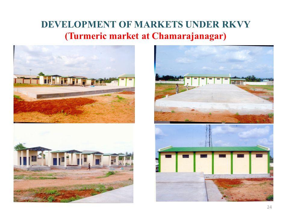 24 DEVELOPMENT OF MARKETS UNDER RKVY (Turmeric market at Chamarajanagar)