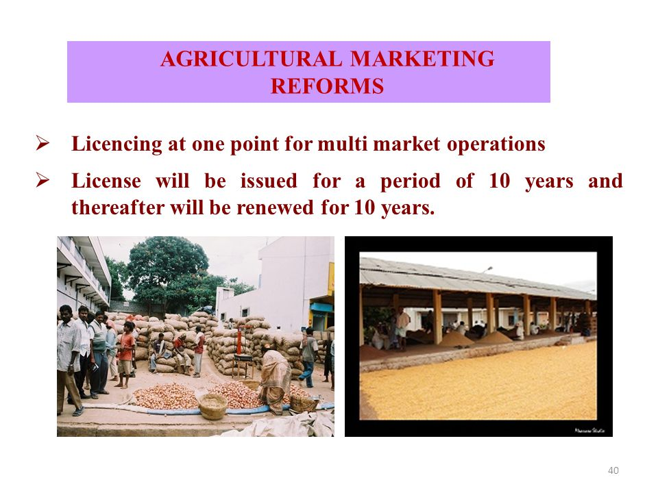 40  Licencing at one point for multi market operations  License will be issued for a period of 10 years and thereafter will be renewed for 10 years.