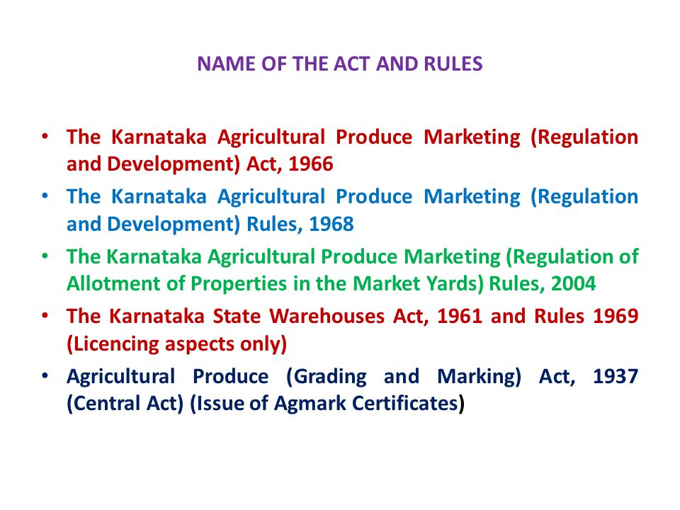19  Karnataka Oil Seeds Growers Federation (KOF) and HOPCOMS have been exempted from payment of market fee.