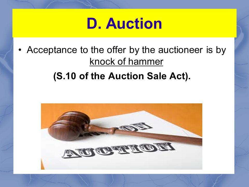 D.Auction An auction is only ITT.