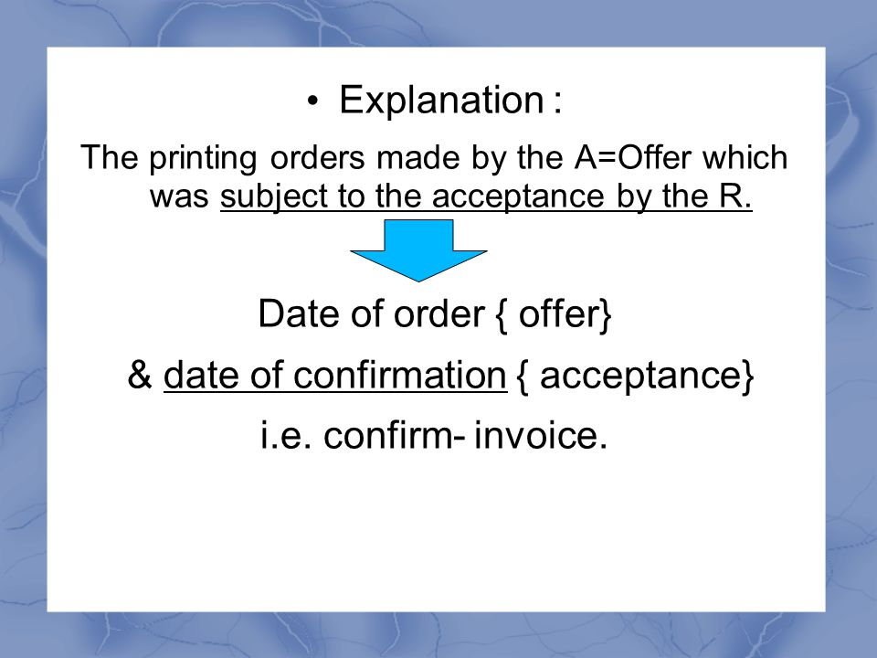 The Court laid down the principles: The quotation were only supply of information which was an invitation to the A to make an offer /ITT in order to get the R's service.