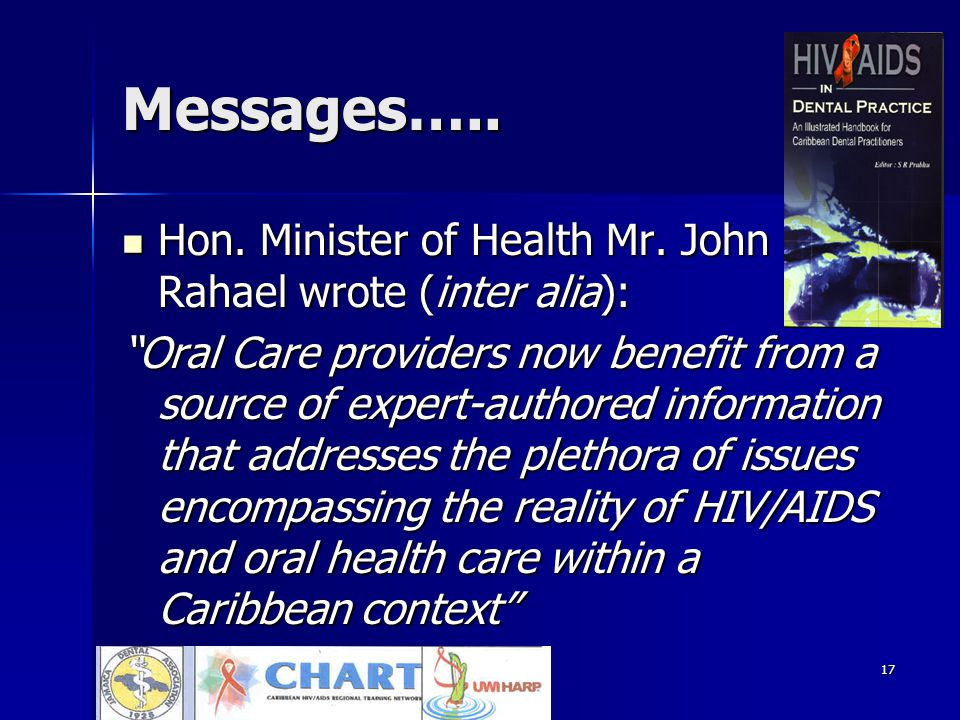 17 Messages…..Hon. Minister of Health Mr. John Rahael wrote (inter alia): Hon.