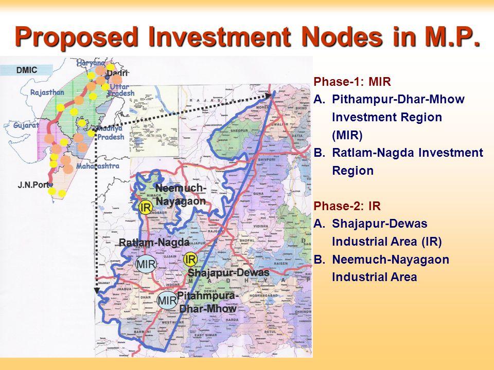Proposed Investment Nodes in M.P.