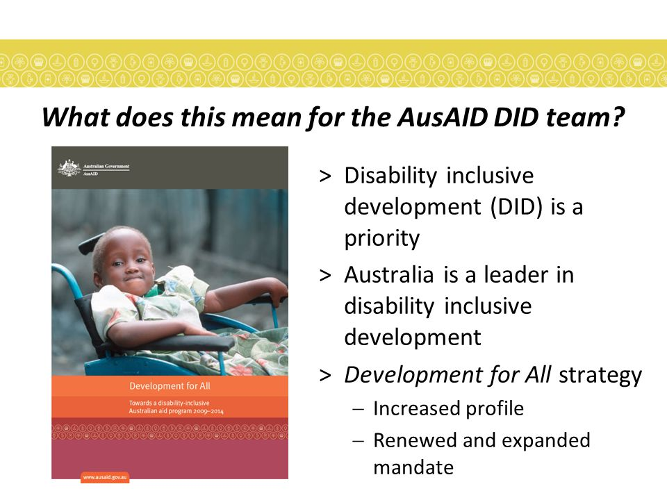 What does this mean for the AusAID DID team.