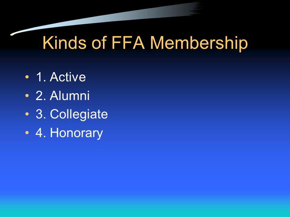 FFA Memberships
