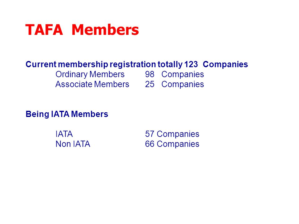 TAFA Training Program There are two requirement courses i.e.