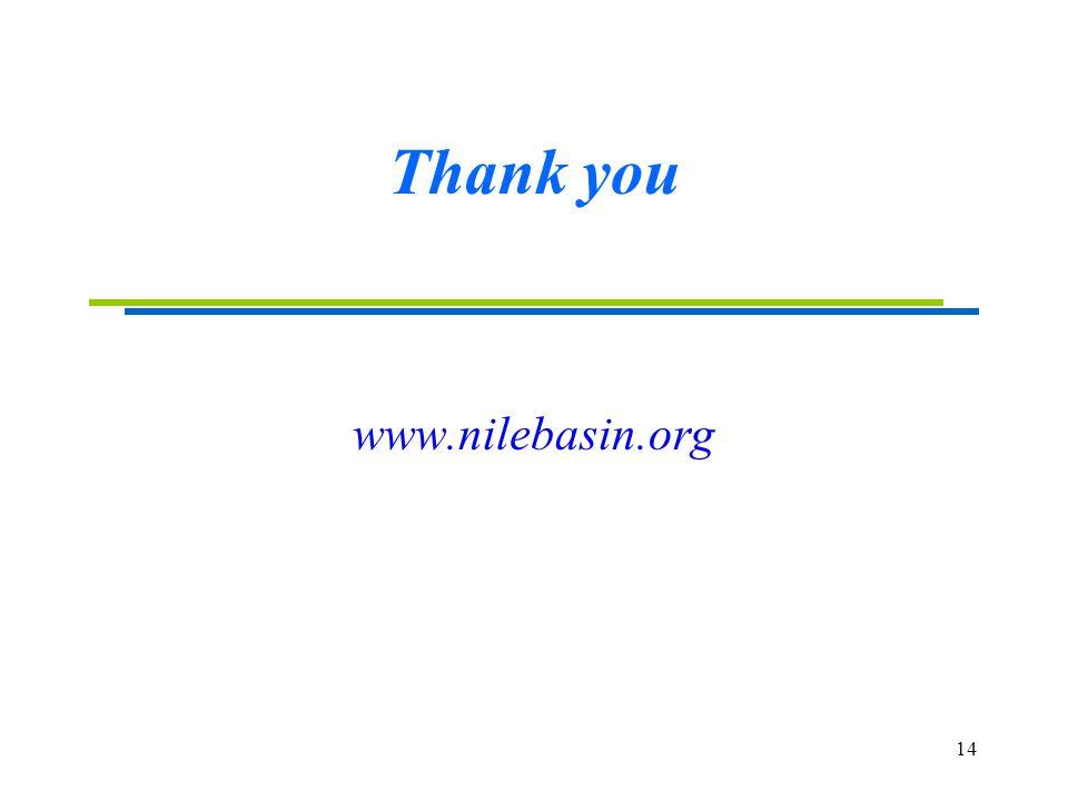 14 Thank you www.nilebasin.org