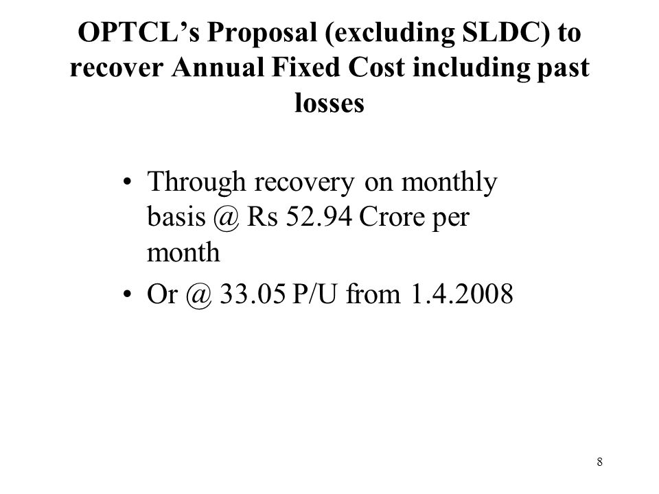 19 Provision for bad debt –Since all the DISTCOs are paying the transmission charges in full, the provision for bad debt is unfounded and should not be allowed in the ARR of OPTCL.