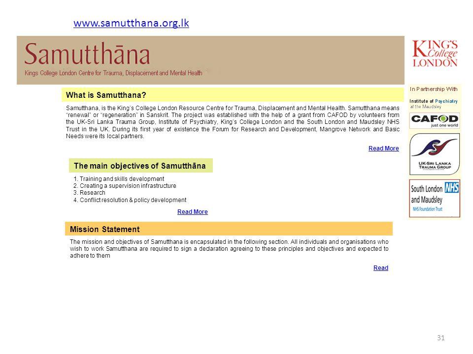 What is Samutthana.