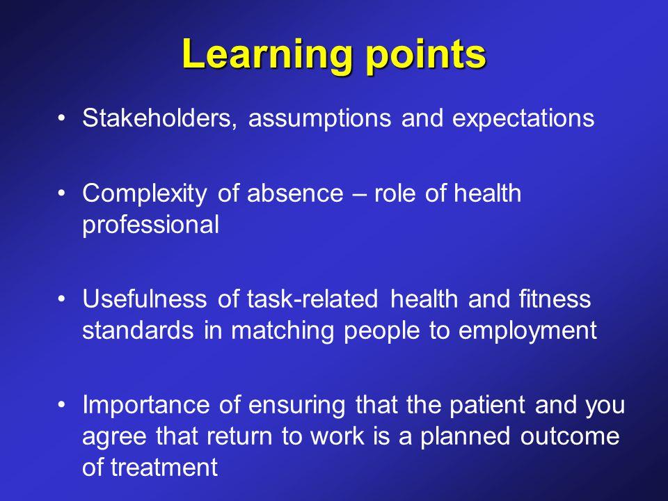 Health-critical aspects of jobs Diabetes Epilepsy Back pain Skin disease Mental health Cardiac surgery