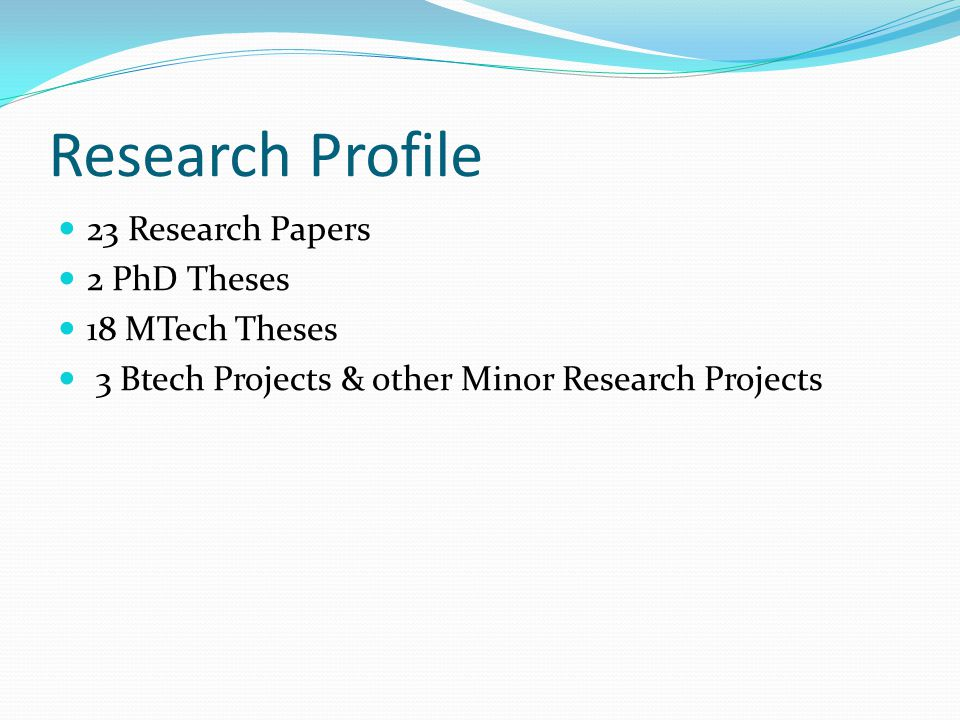 Various Research Projects done Transcrypt MIDS (Malware Infection Detection System) Sachet( सचेत ): Intrusion Detection System PickPacket for Gigabit links Bulk Encryption Device (BED) Cryptanalysis Netlog Server Secure Linux TIED and LibSafePlus Trinetra ( त्रिनेत्र ) and Indra ( इन्द्र ) SCOSTA