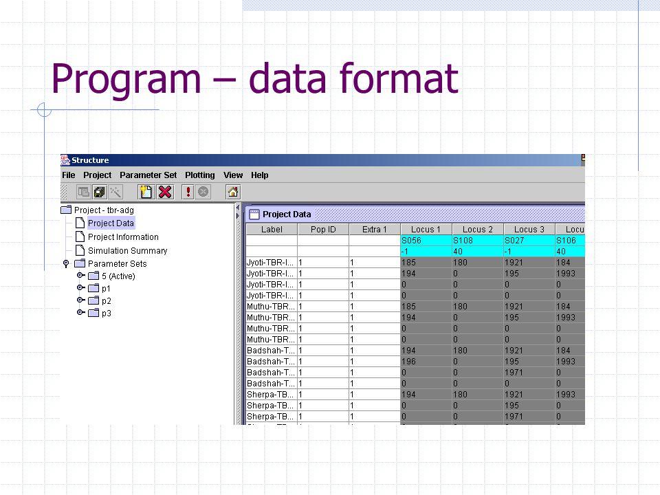 Program – data format