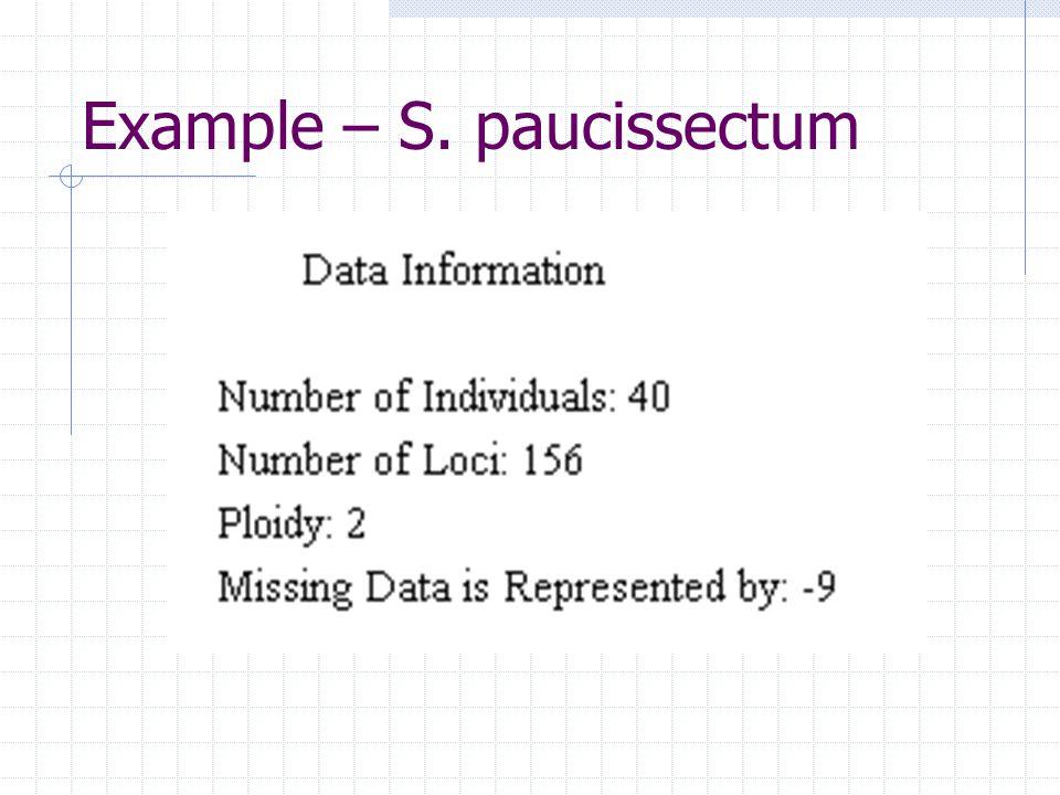 Example – S. paucissectum