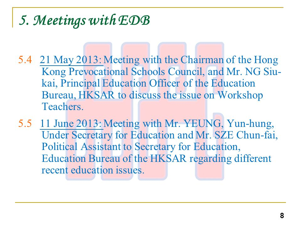 5.Meetings with EDB 5.611 June 2013: Meeting with Mr.