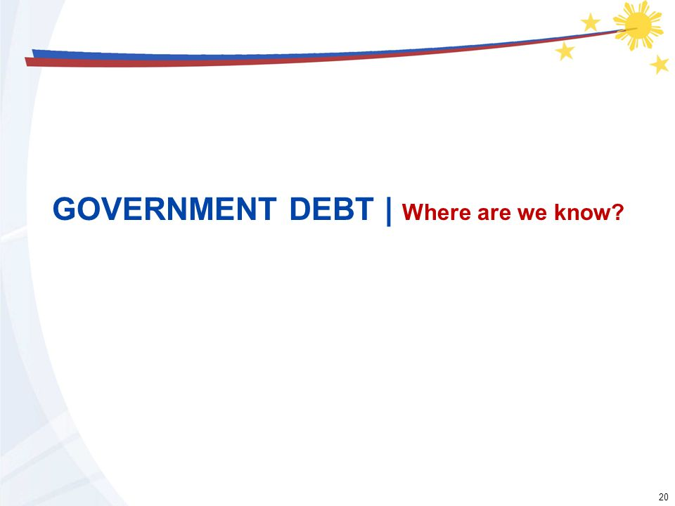 20 GOVERNMENT DEBT | Where are we know