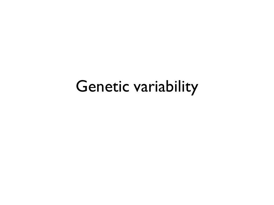 Genetic variability