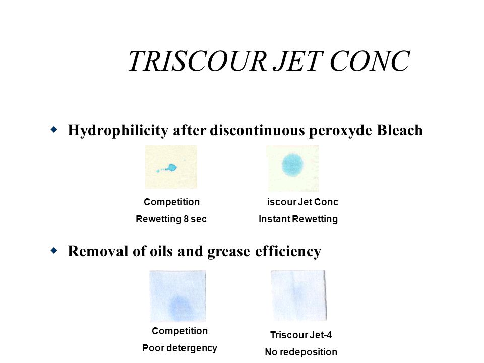 TRISCOUR JET CONC The graph illustrates that Triscour Jet CONC results in a superior white