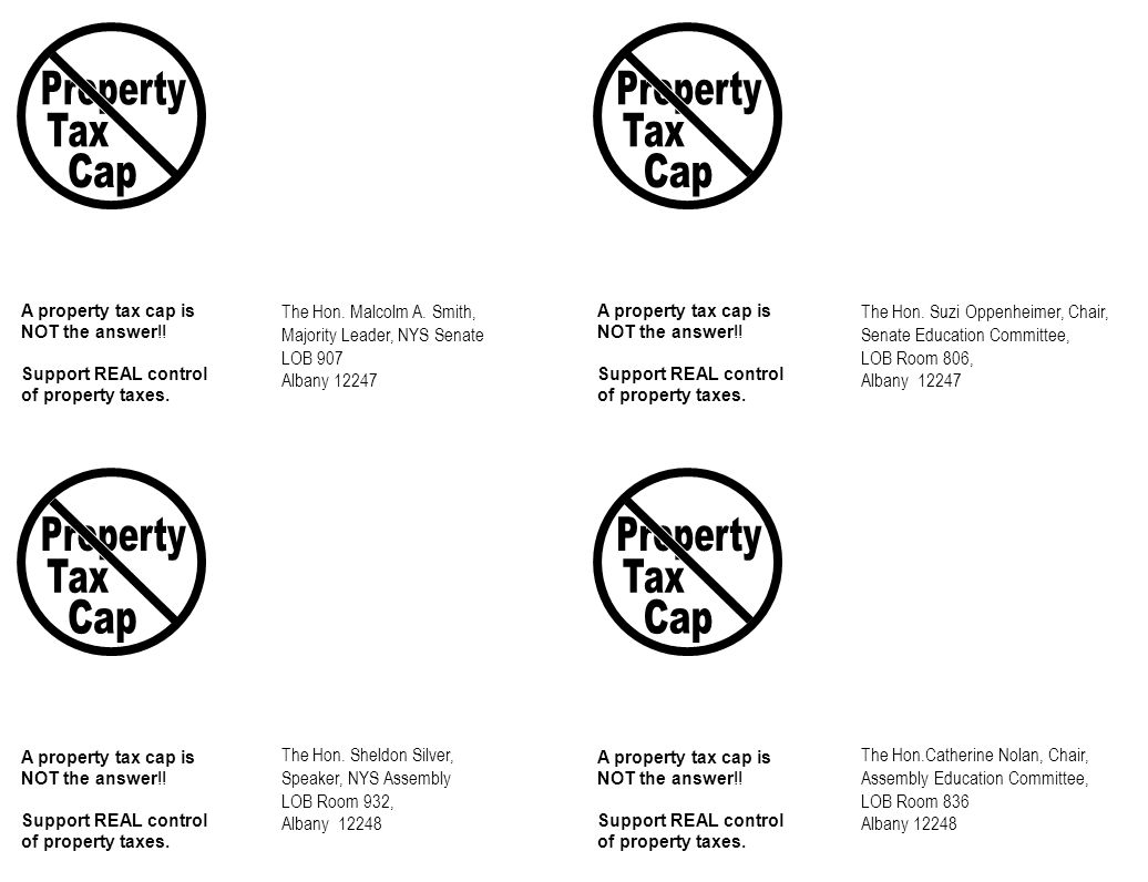 A property tax cap is NOT the answer!.
