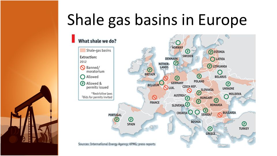 Shale gas basins in Europe
