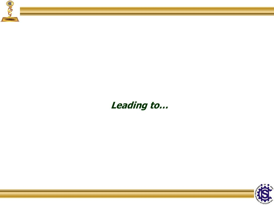 Leading to…