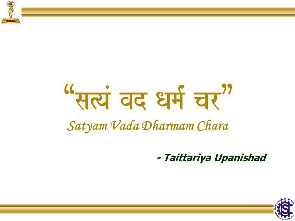 Satyam Vada Dharmam Chara - Taittariya Upanishad