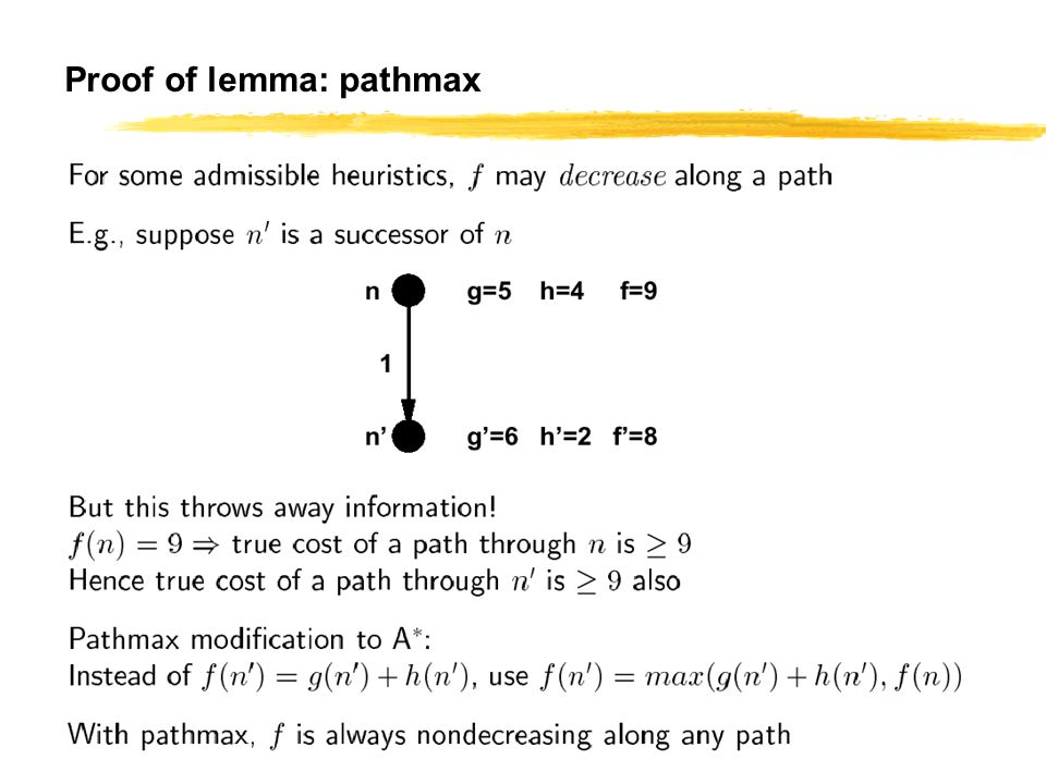 CS 561, Session 7 45 Proof of lemma: pathmax