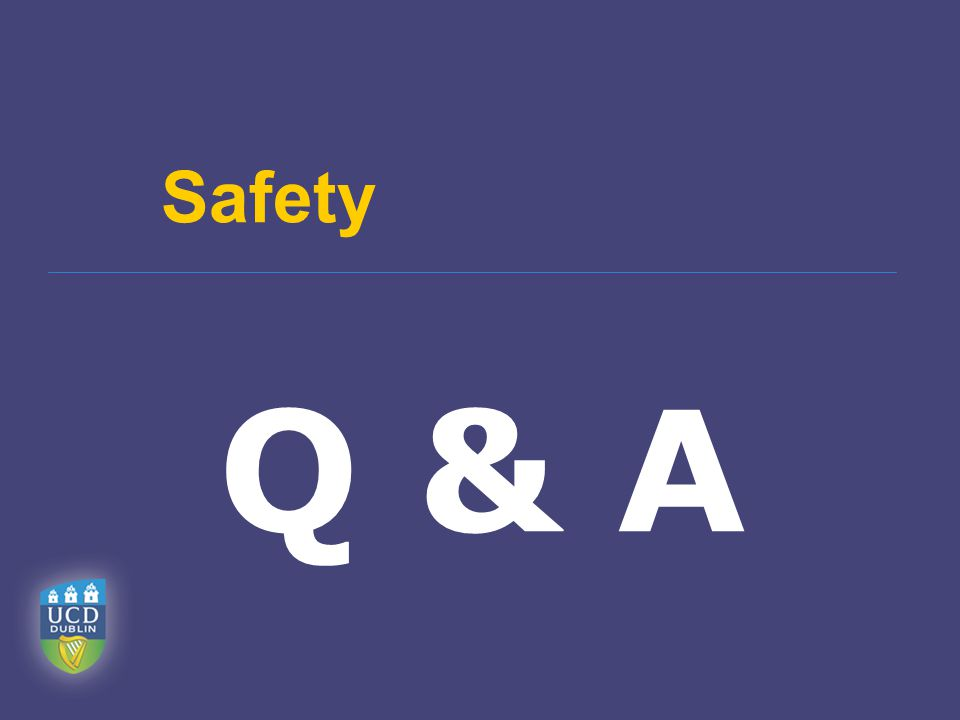 Safety Q & A