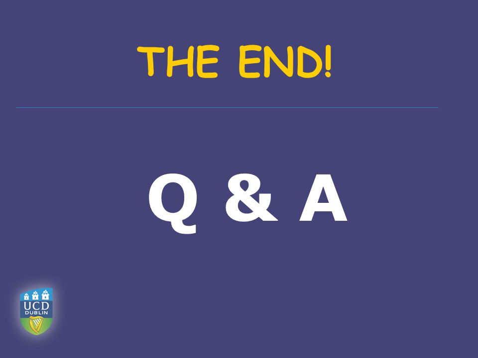Q & A THE END!
