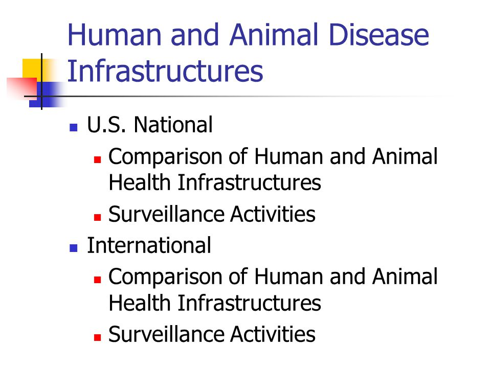 Human and Animal Disease Infrastructures U.S.