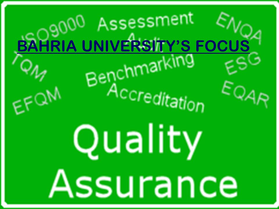 BAHRIA UNIVERSITY'S FOCUS