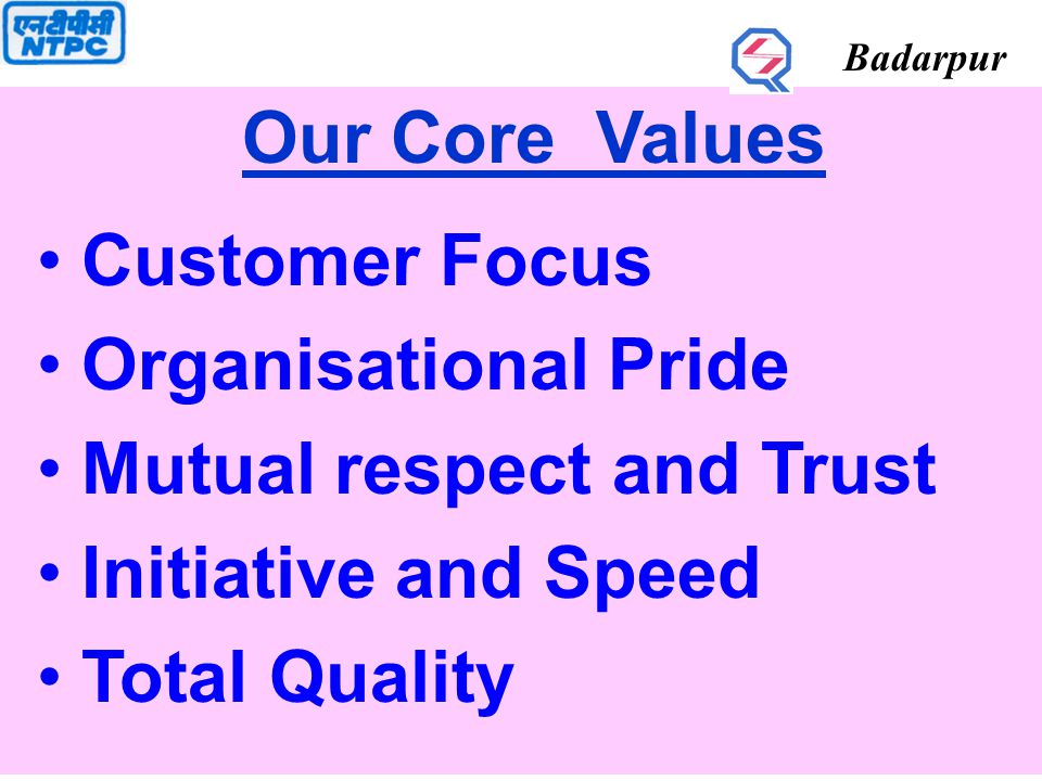 Badarpur GOAL YEAR OF EXCELLENCE Support Services Technical Systems - PMS - TEAM BLDG.