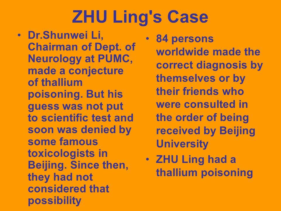 ZHU Ling s Case Dr.Shunwei Li, Chairman of Dept.