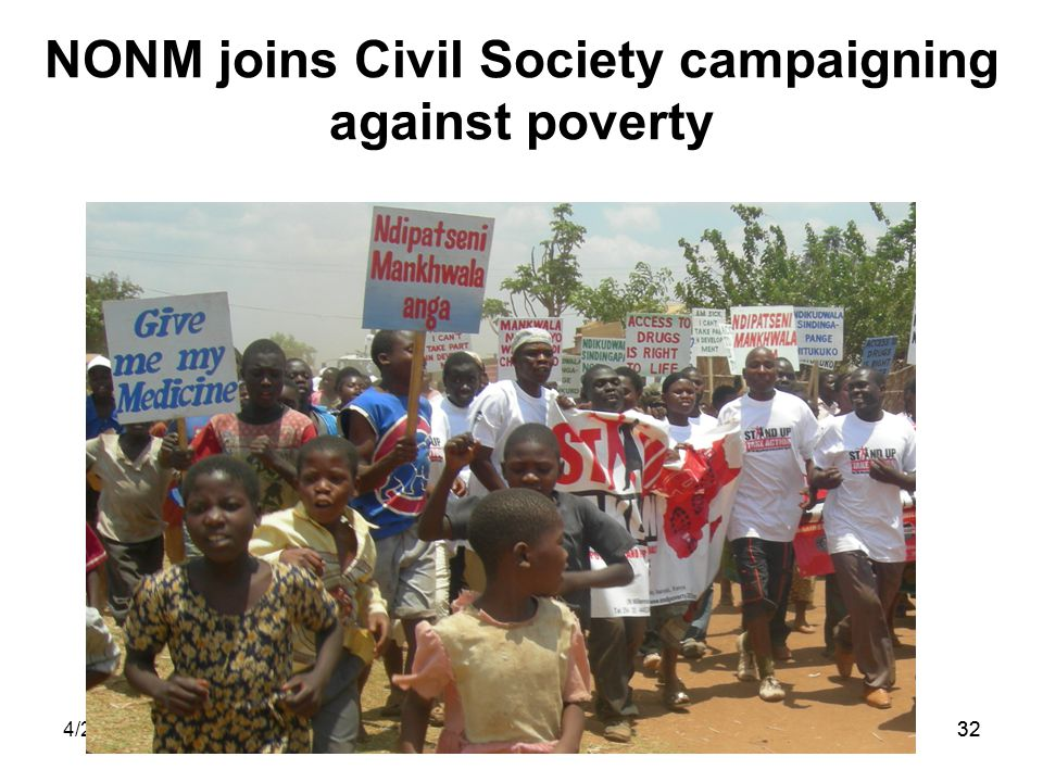 4/25/201532 NONM joins Civil Society campaigning against poverty