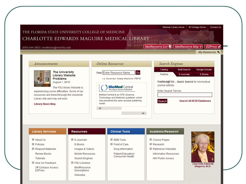 New Library Webpage Summer 2010 32