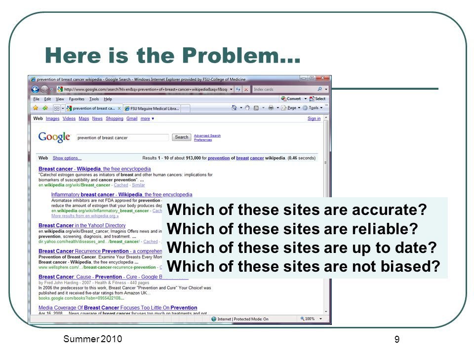 Searching with Google Summer 2010 20 Web Based Medical Information Google Search Free $ubscription