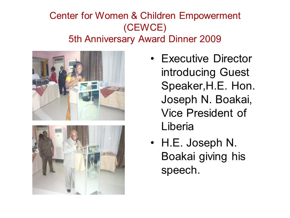 CEWCE Board Chair – statement of appreciation to vision supporters Commerce Minister, Board Chair, Mr.