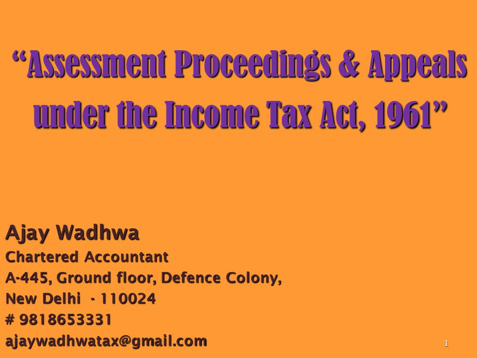 Sample written submissions Dated – 05.05.2014 The Commissioner of Income-tax (Appeal)-II, Laxmi Nagar Delhi – 110092 Sub: Appeal in the case of Mr.