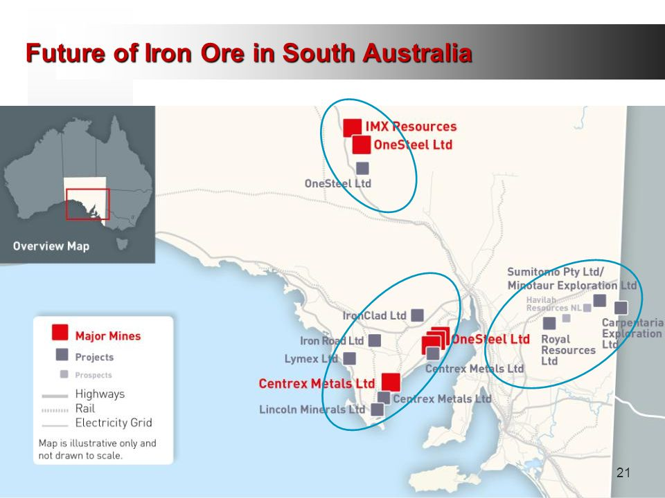Future of Iron Ore in South Australia 21