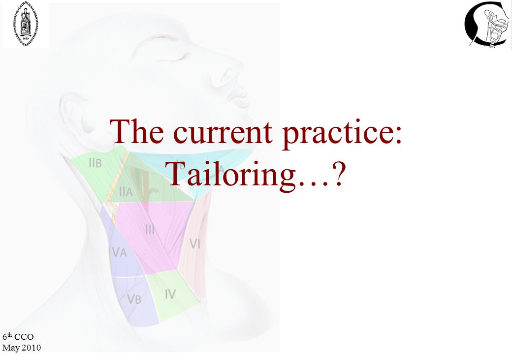 6 th CCO May 2010 The current practice: Tailoring…