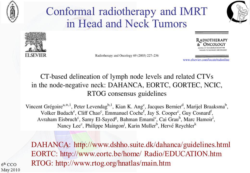 6 th CCO May 2010 CTMRI (T2)FDG-PET PRE-R/ WEEK 3 WEEK 5 (Week 2) (Week 4)